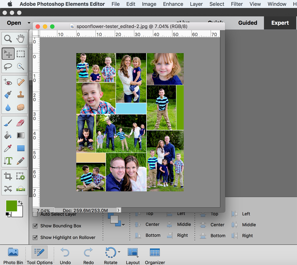 photoshop elements how to make a collage