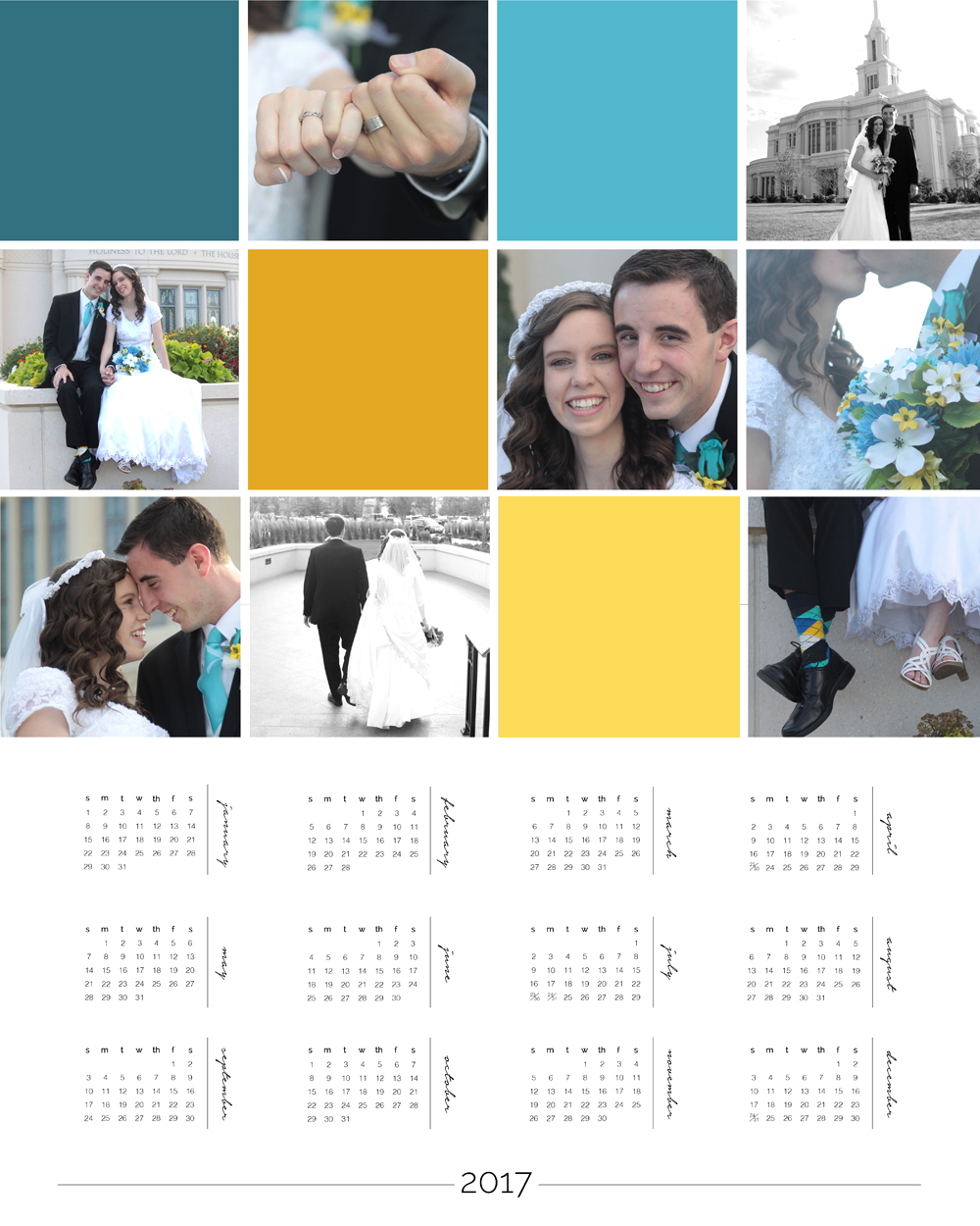 make a personalized photo wall calendar + Photoshop Elements ...