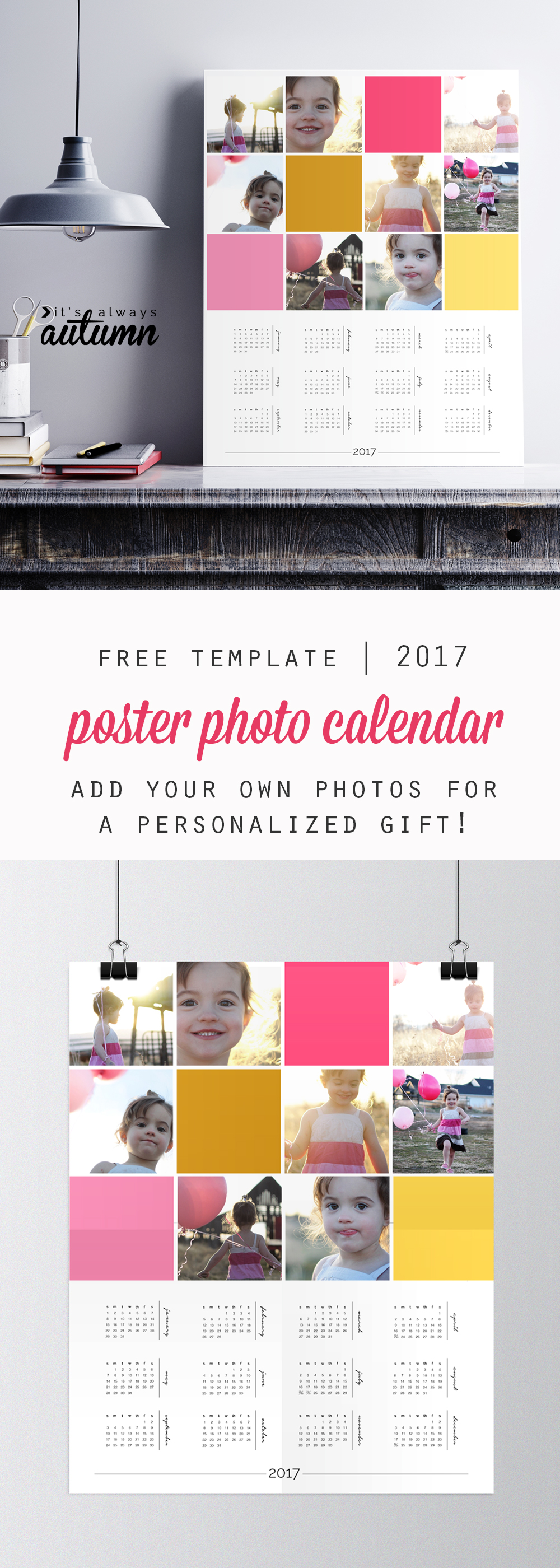 Make a free calendar with your photos Personalized 2018 Photo Calendars Shutterfly