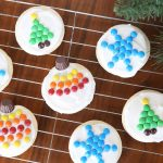 easy to decorate M&M Christmas sugar cookies