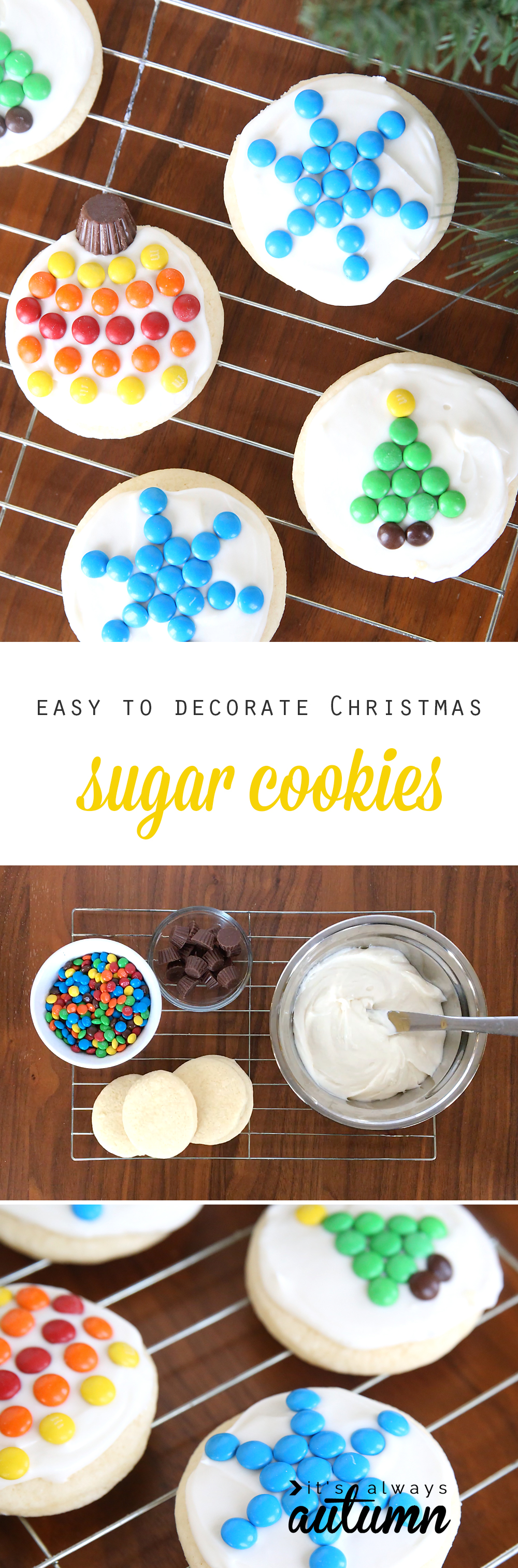 mini mms make it super easy to decorate christmas sugar cookies