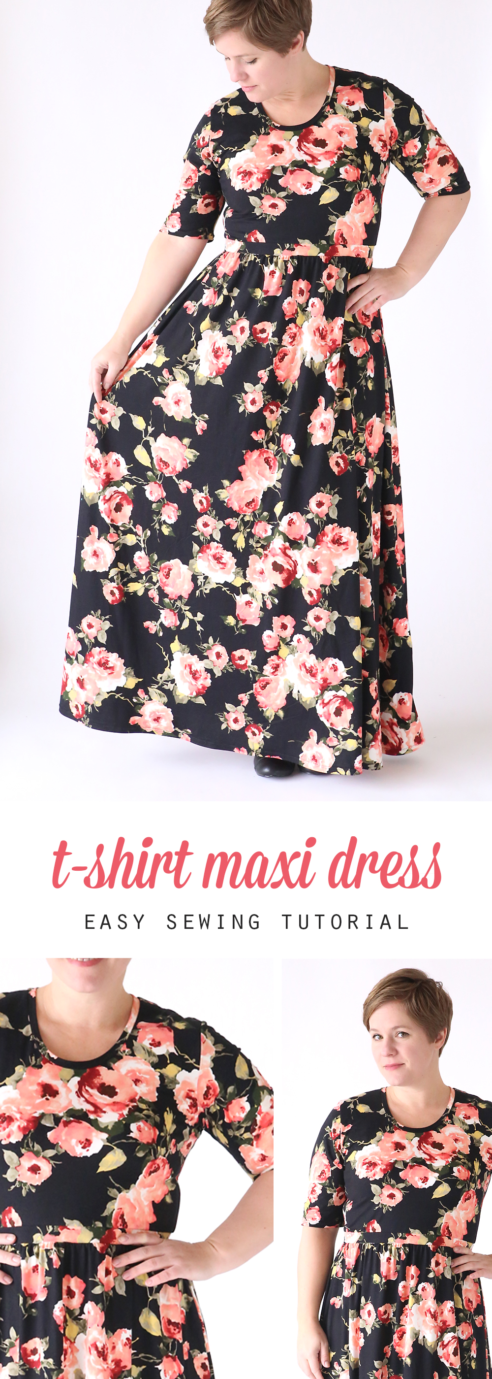 Free easy sewing maxi dress pattern