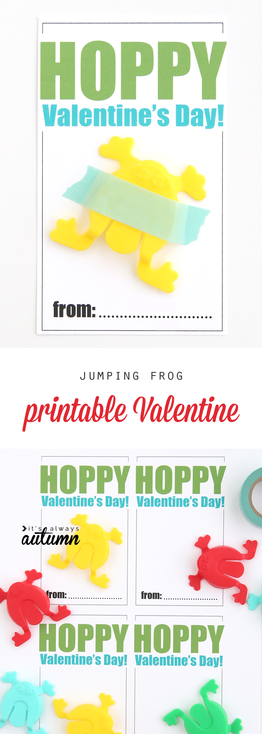 hopping frogs free printable Valentines Day cards Its Always – Valentines Day Cards for Boys