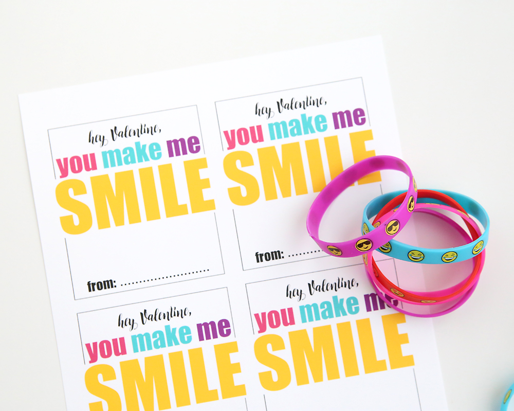 emoji bracelet free printable Valentines Day card Its Always – Print Valentines Day Card