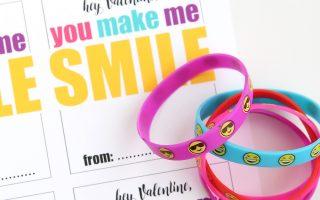 emoji bracelet free printable Valentine's Day card