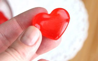 cinnamon hearts hard candy for Valentine's Day
