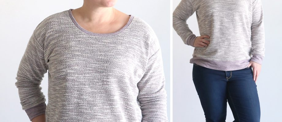 the perfect slouchy sweatshirt | free pattern
