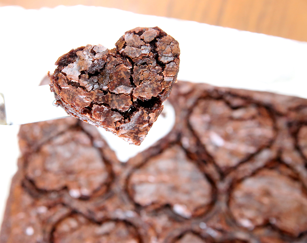 Shot Through The Heart Shaped Valentine S Brownies It
