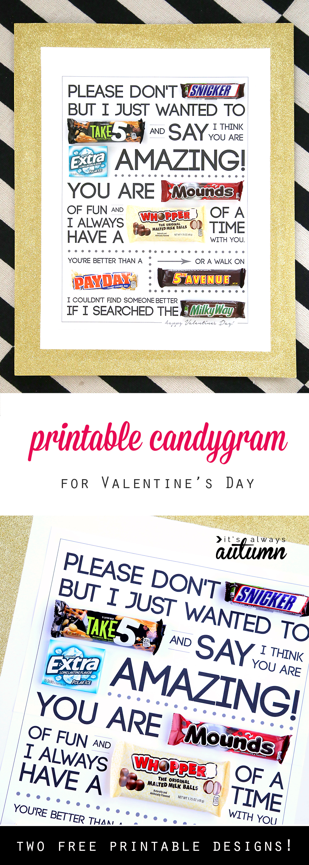 Free Printable Valentine S Day Candygram Candy Poster It S