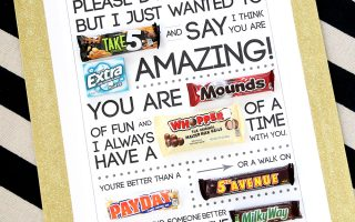 Free printable Valentine's Day candygram (candy poster)