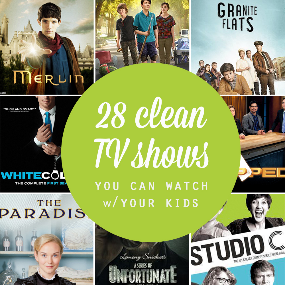 Great list of family friendly TV shows you can watch with your kids! Clean television sitcoms, dramas, and more. Great shows even the adults will like.