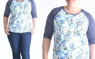 free raglan tee shirt sewing pattern {women's size large}