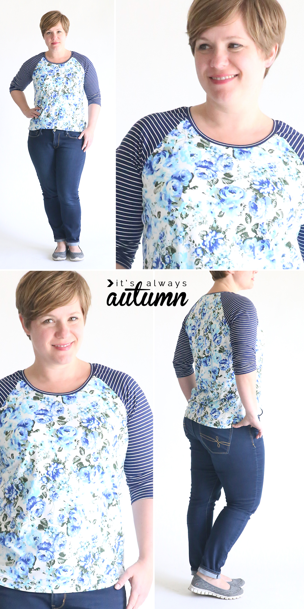 42ccf31f9 Learn how to sew a raglan sleeve (baseball) tee shirt with this easy sewing