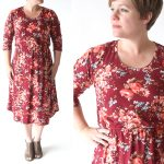 easy tee shirt midi dress sewing tutorial
