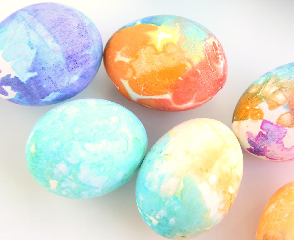 tissue paper easter eggs so easy it u0027s always autumn