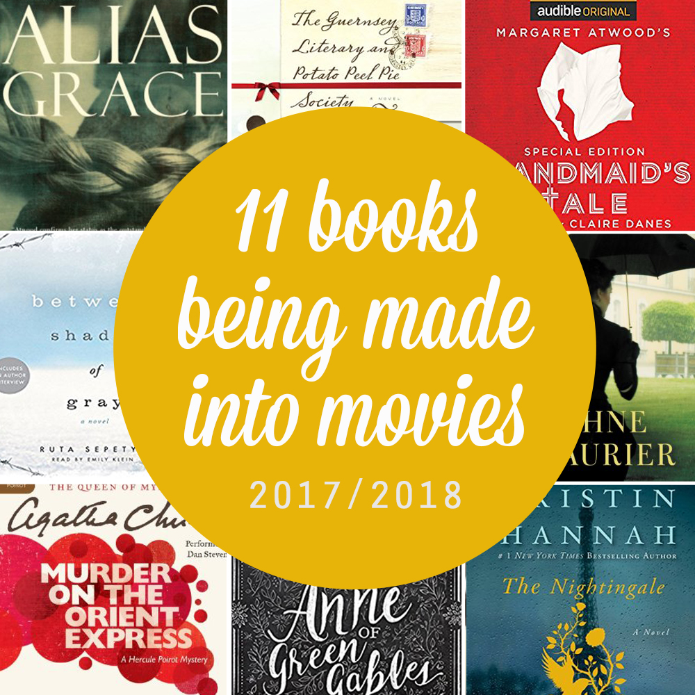 11 books to read before they hit the screen. Great list of novels being made into movies or miniseries in 2017 and 2018 - read the books first!