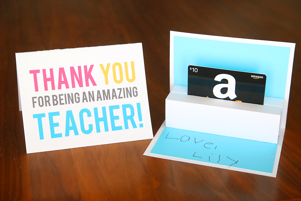 photograph relating to Free Printable Gift Card Holder Templates named Do-it-yourself trainer appreciation pop up reward card holder - Its