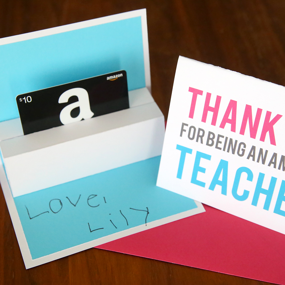 Diy Teacher Appreciation Pop Up Gift Card Holder It S