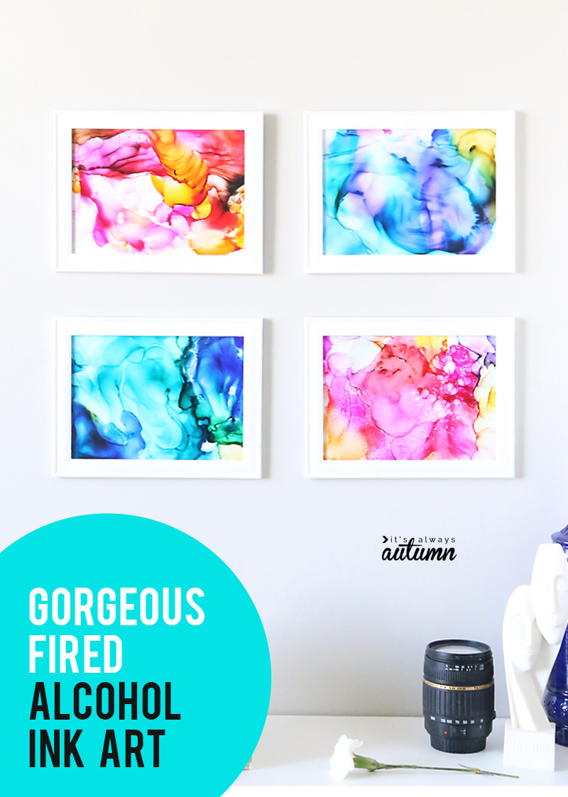 How To Make Gorgeous Fired Alcohol Ink Art It S