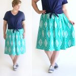 the perfect flattering gathered skirt for summer
