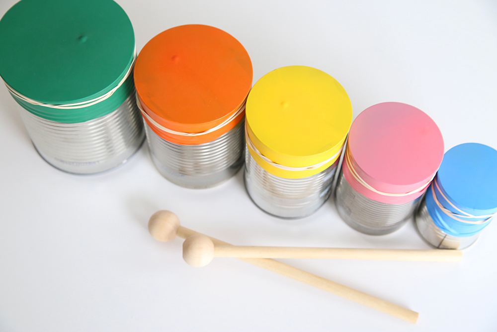 Kid Made Drum Set Kazoo Easy Indoor Craft on Musical Instruments Craft Idea For Kids