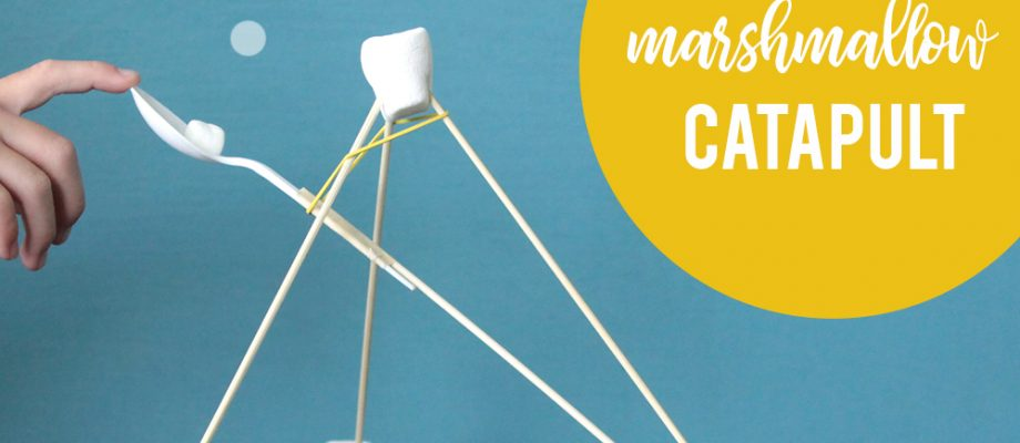 So fun! Teach your kids how to make a marshmallow launcher with supplies you already have around the house. DIY marshmallow catapult.