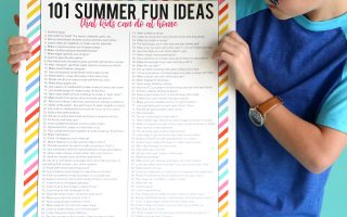 101 summer fun ideas that kids can do at home