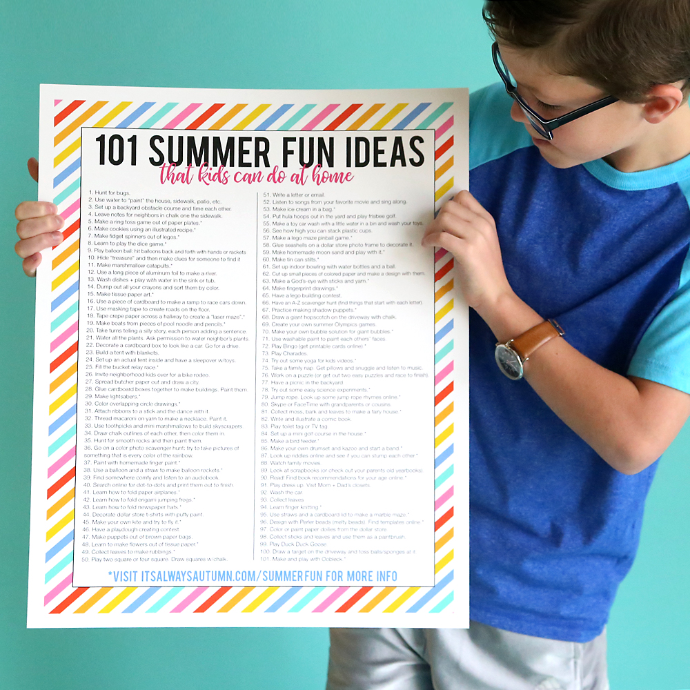 101 summer fun ideas that kids can do at home it 39 s for Fun at home projects