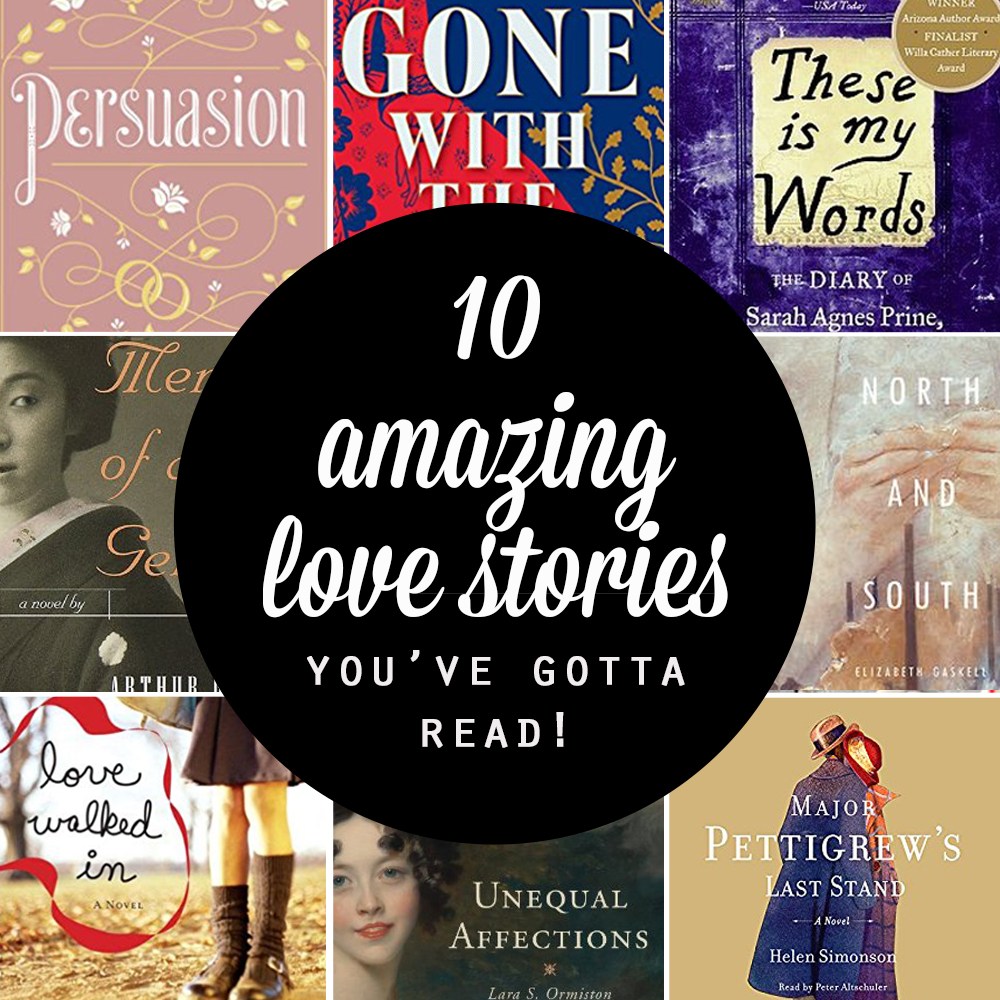 10 amazing love stories | These are the best romantic novels! Ten books with such beautiful love stories you'll want to read them over and over again. Summer book list.