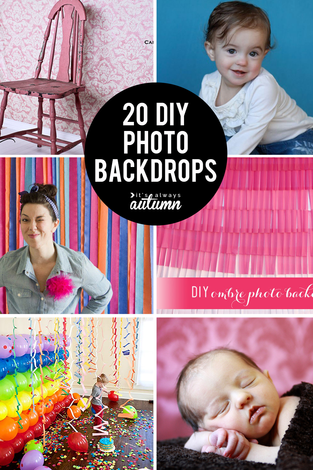 20 fabulous DIY photo backdrops.