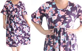 easy ruffle sleeve dress sewing tutorial