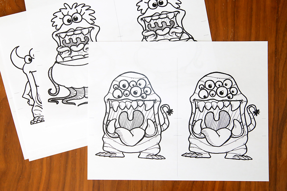 Big Mouth Monsters Coloring Pages Are So Much Fun Color And Fold Them Then