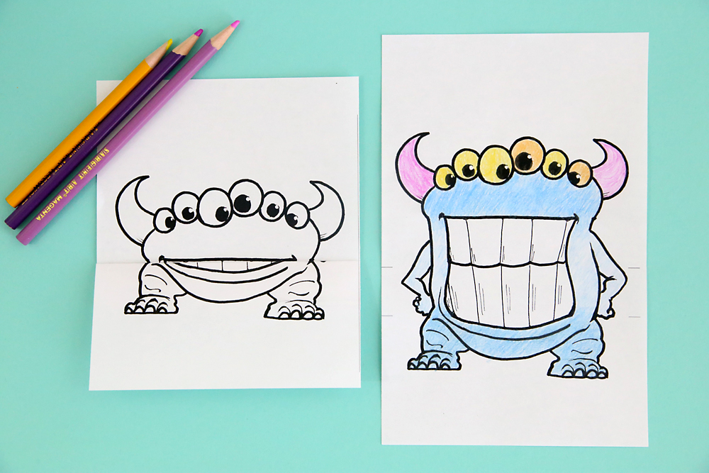 graphic about Mouth Printable identify printable huge mouth monster coloring web pages - Its Normally Autumn