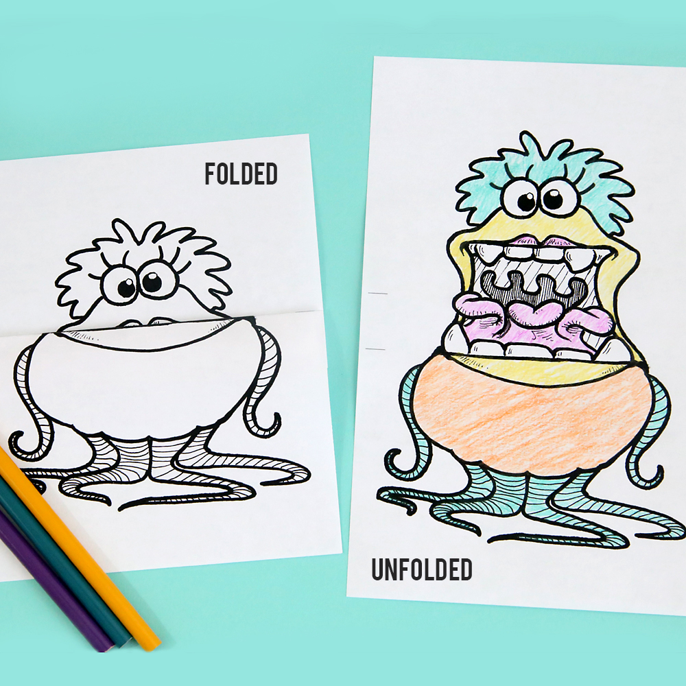 printable big mouth monster coloring pages