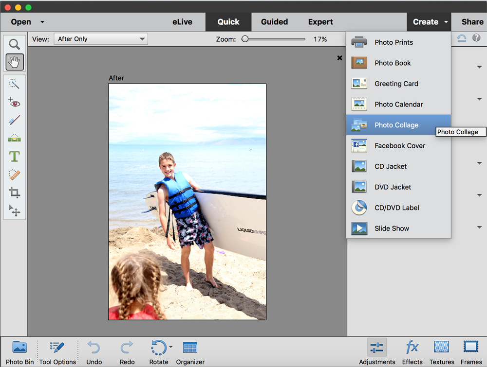 This is the easiest way to transfer a photo to wood! Click through to see how simple it is. Also, learn how to make a quick photo collage using Photoshop Elements.
