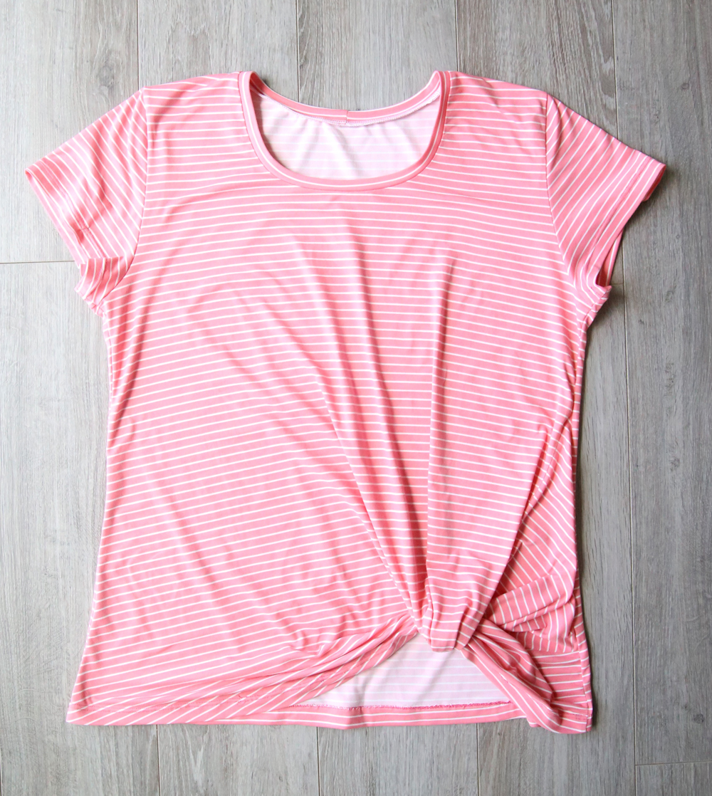 The twist knot tee free sewing pattern it 39 s always autumn for How to print shirt