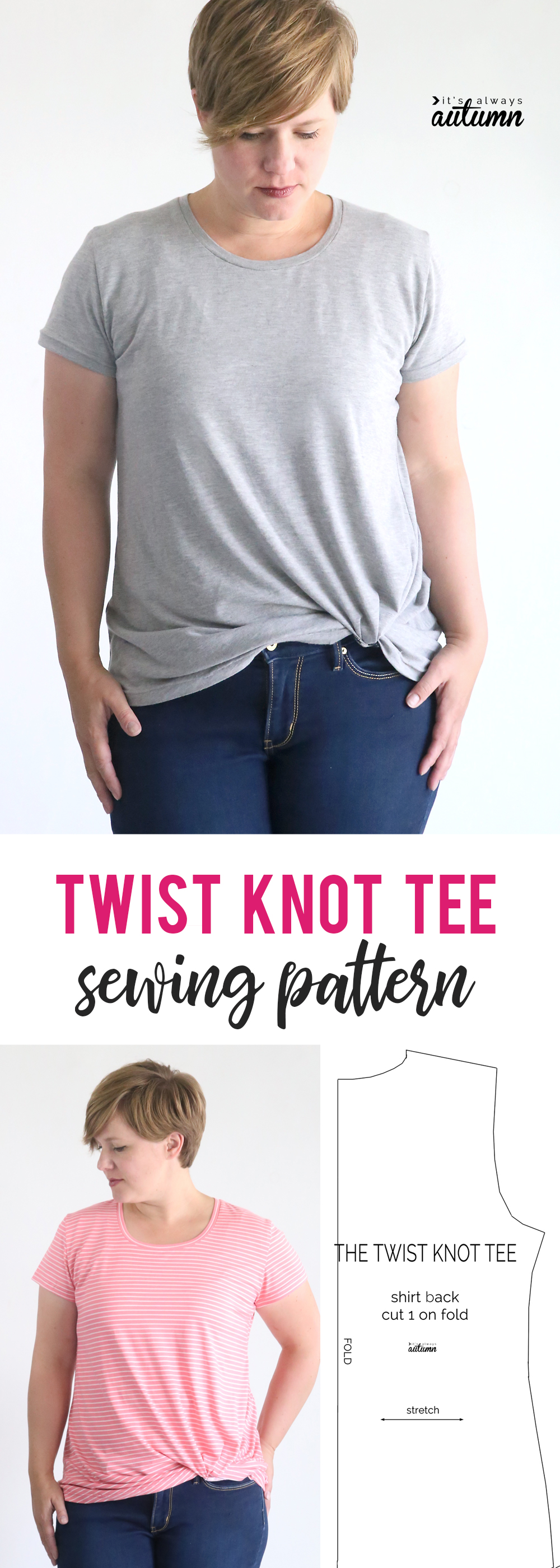 The Twist Knot Tee Free Sewing Pattern It 39 S Always Autumn