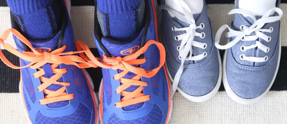 the fast + easy hack to tie your shoes!