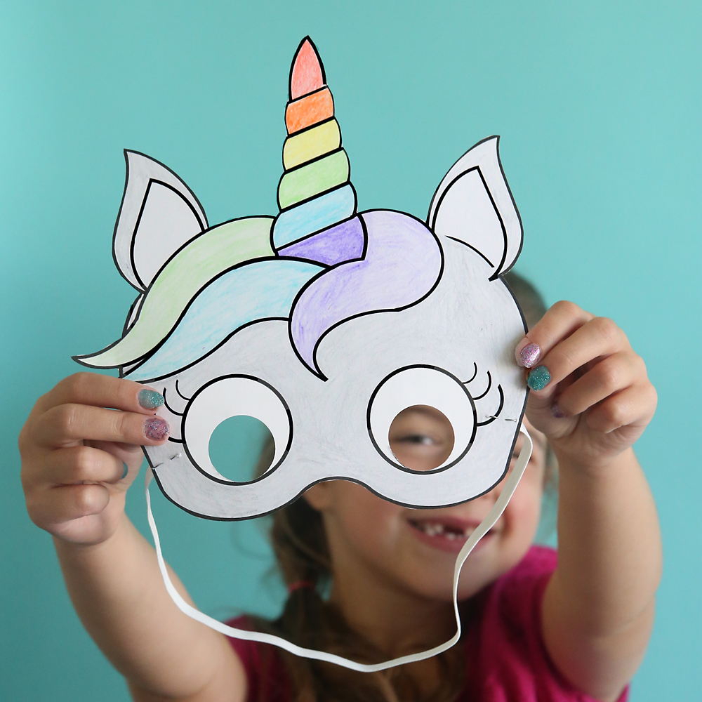 Modest image intended for free printable unicorn mask