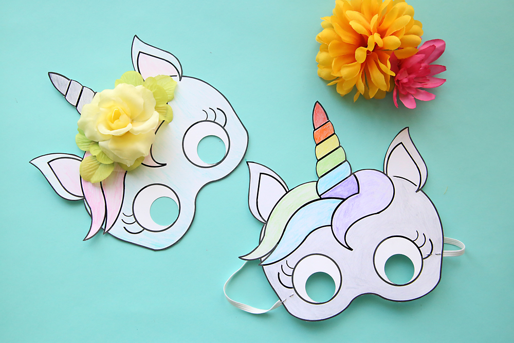 Exhilarating image in free printable unicorn mask