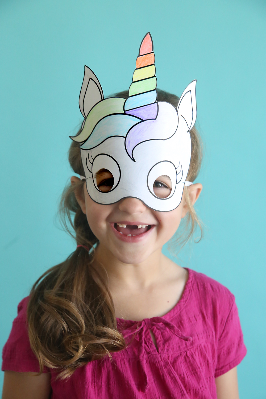 unicorn masks to print and color {free printable} - It's ...