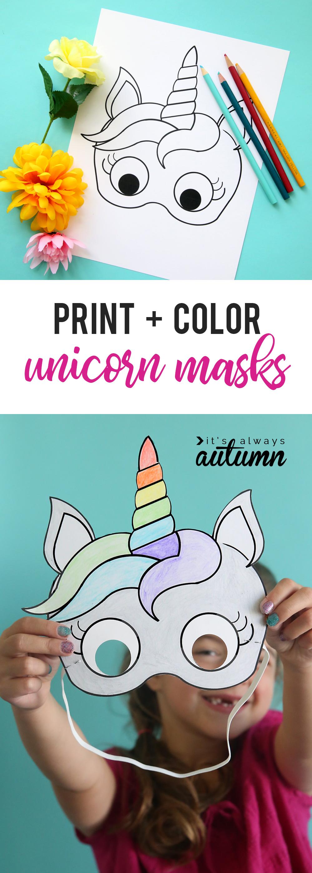 It is an image of Comprehensive Unicorn Mask Printable