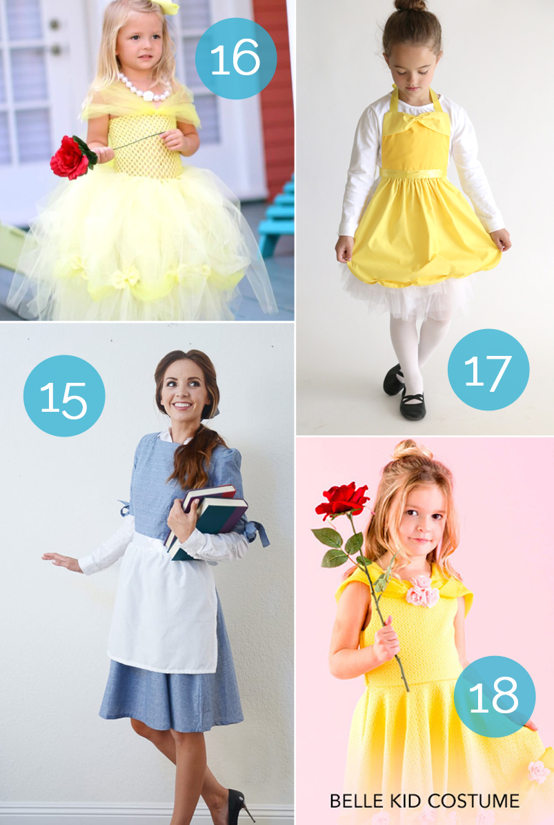 Best tutorials for a DIY Belle costume from Beauty and the Beast. Great for dress up or Halloween!