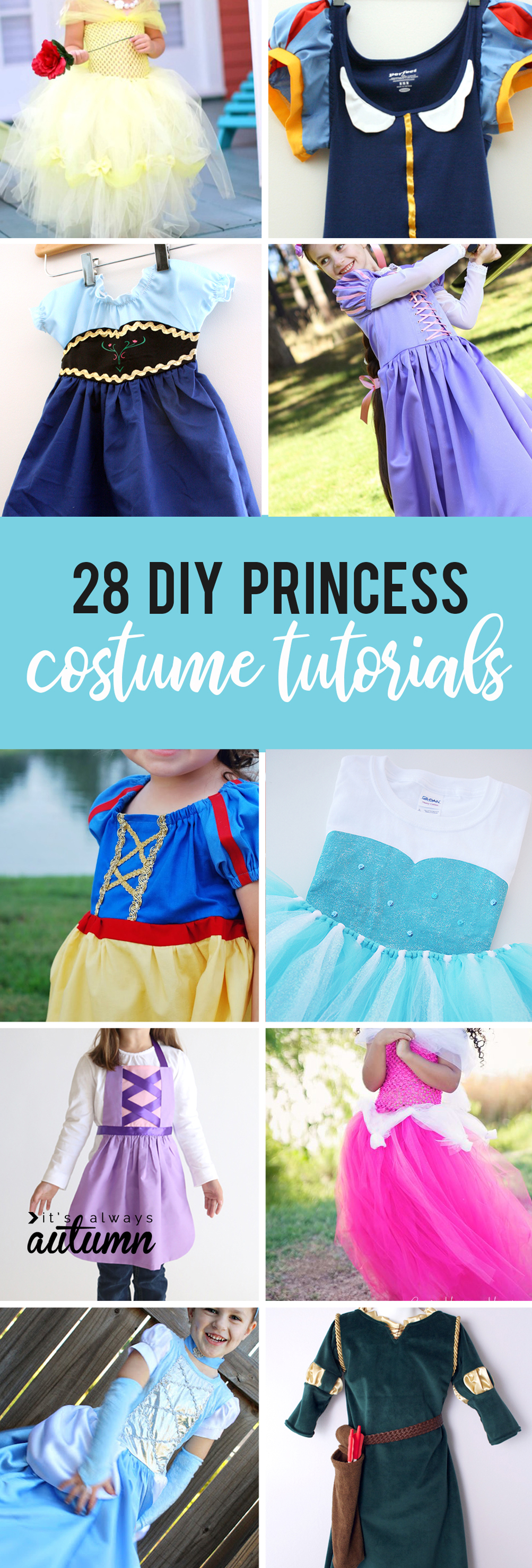 28 DIY princess costume tutorials - all the best instructions for how to make your own  sc 1 st  Itu0027s Always Autumn & huge list of DIY princess costumes: DIY Snow white costume and more!