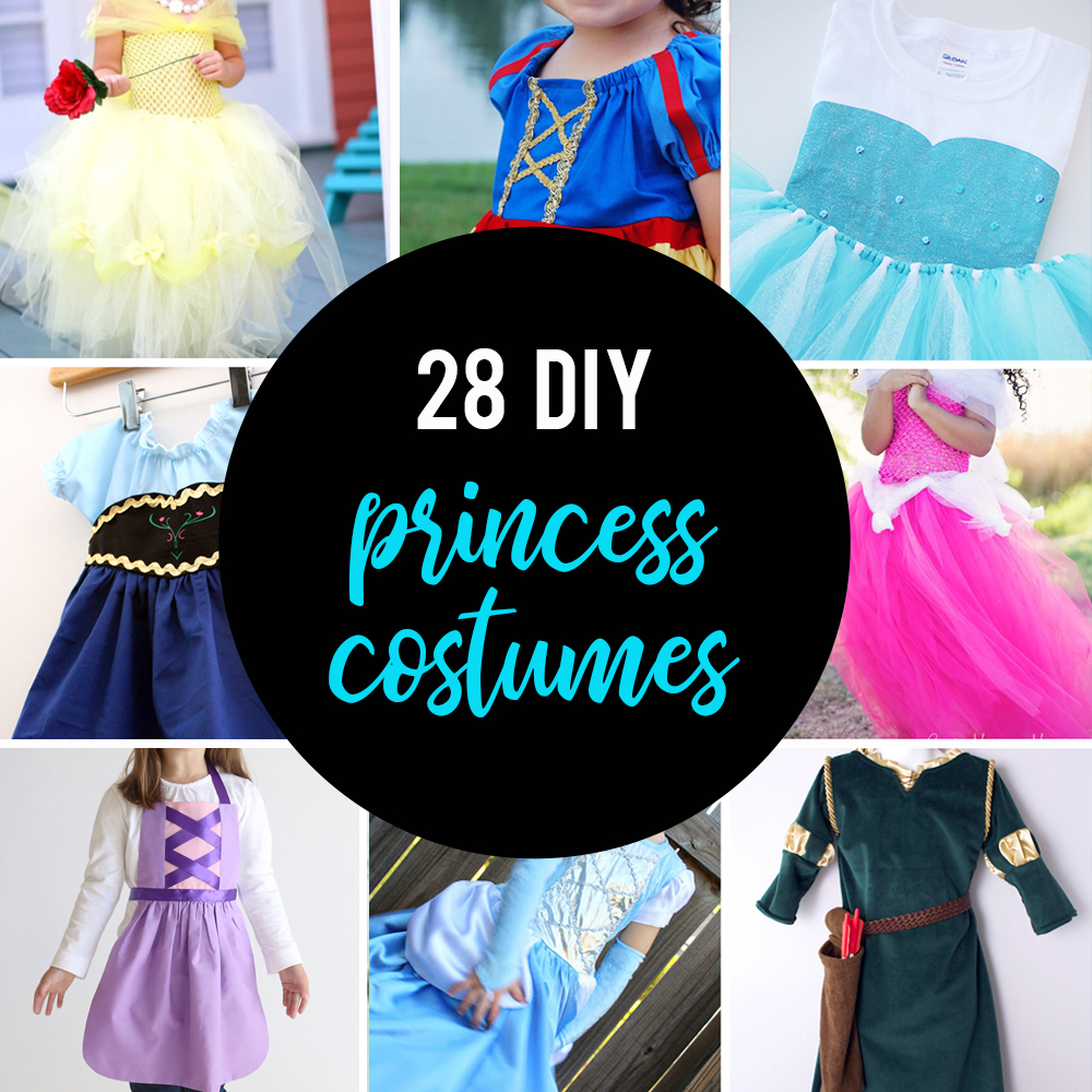 huge list of DIY princess costumes {Snow White, Rapunzel, and more!}