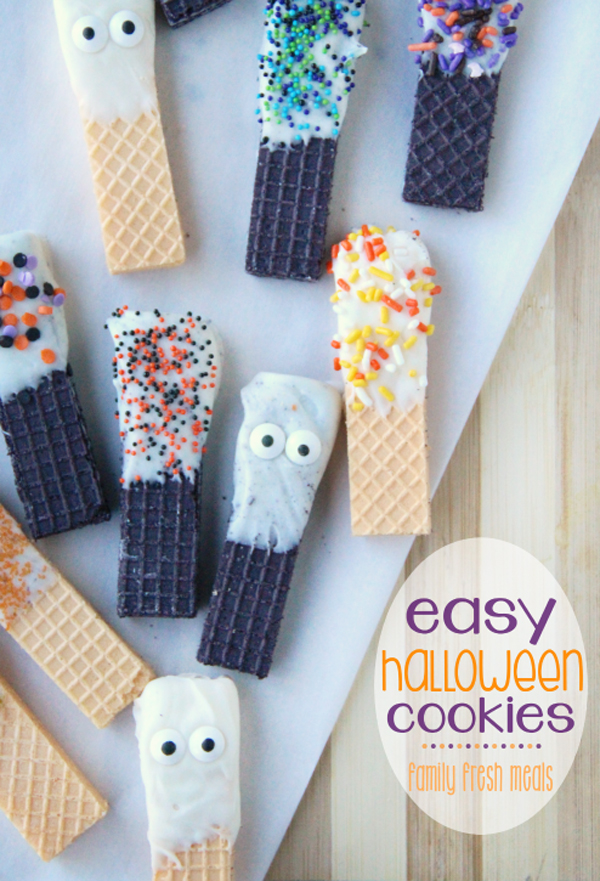 Huge list of Halloween cookies. Fun and easy recipes to make with your kids.