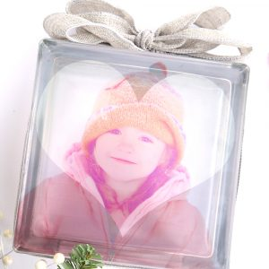 easiest-ever photo transfer to glass {DIY glass photo block}