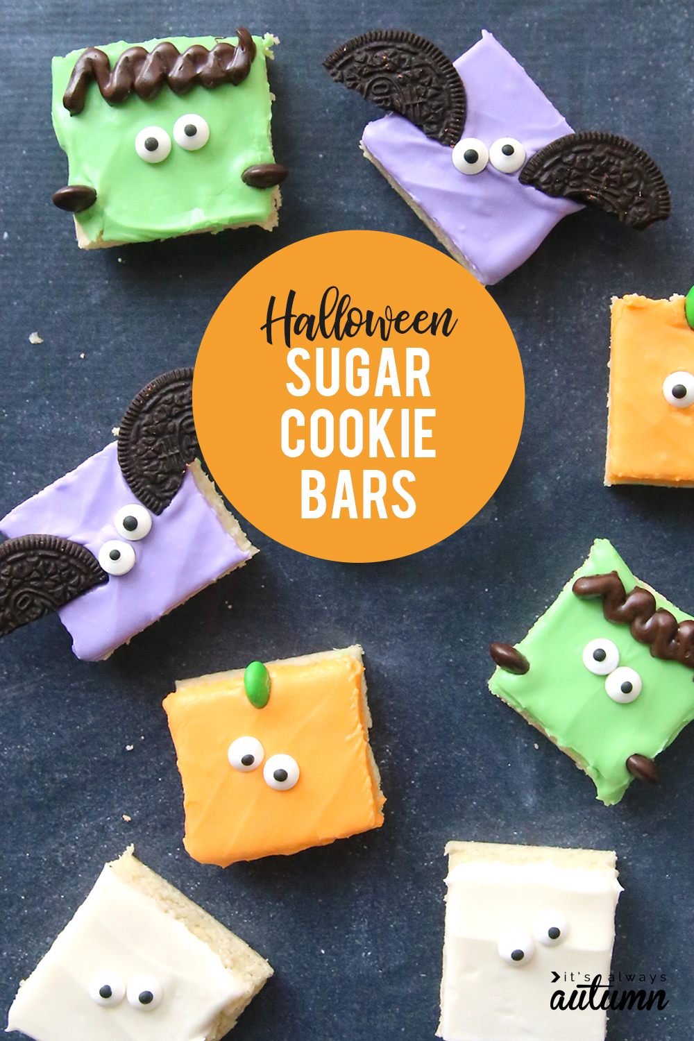 Halloween sugar cookie bars (so fast + easy!) - It's ...