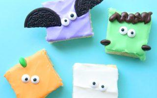 Halloween sugar cookie bars (so fast + easy!)