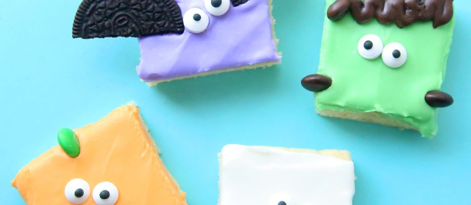 Halloween sugar cookie bars (so fast + easy!)